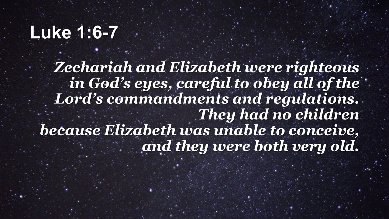 ZACHARIAS AND ELIZABETH